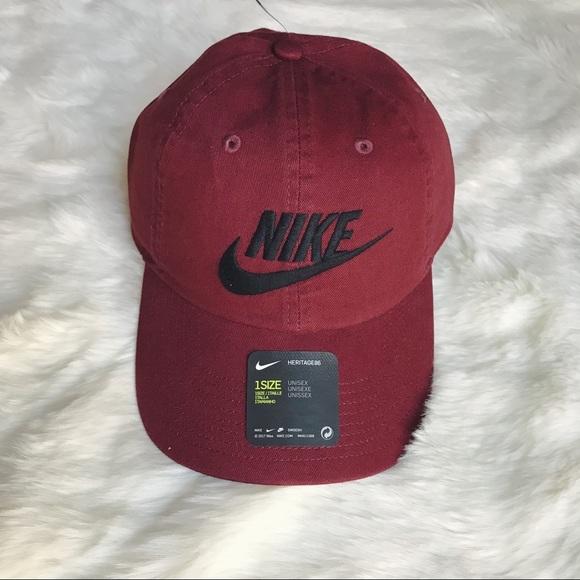7159ee6b777 Nike Washed Burgundy Dad Hat